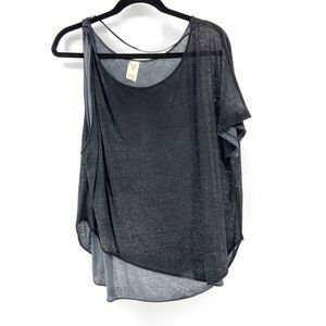 We The Free grey top one sleeve